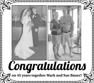 Congratulations On 45 Years Together