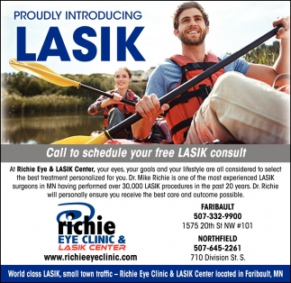 Proudly Introducing Lasik