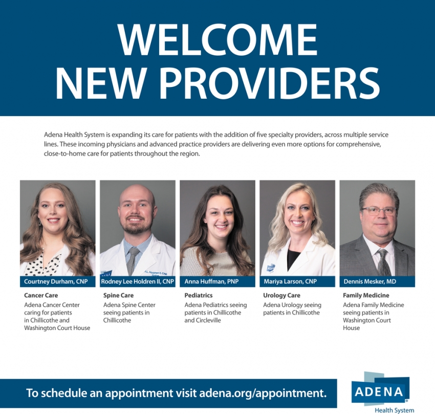 Welcome New Providers