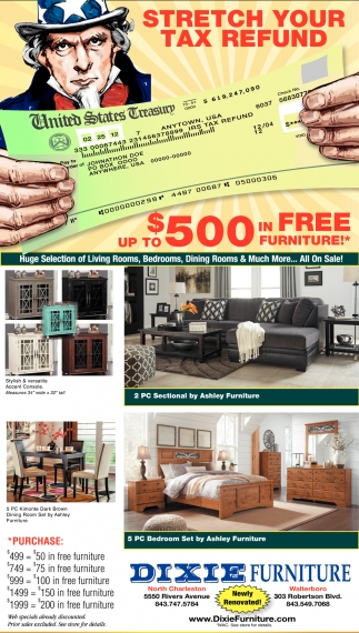 Stretch Your Tax Refund Up To $500 In Free Furniture!