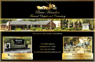 The areas Only Onsite Crematory