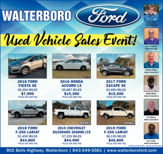 Used Vehicle Sales Event!