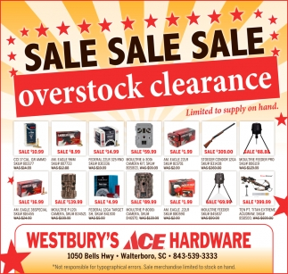 Overstock Clearance