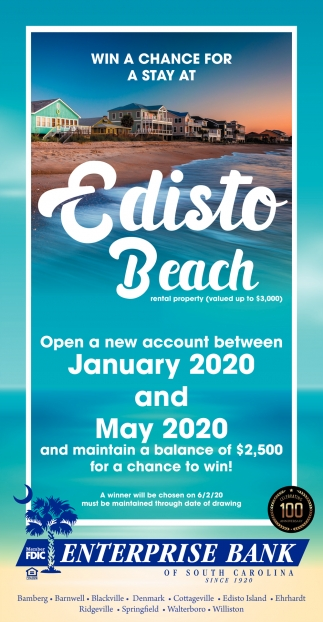Win A Chance For A Stay At Edisto Beach