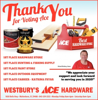 Thank You For Voting Ace Best Hardware Store