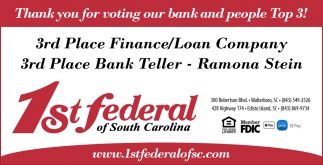 Thank You For Voting Our Bank And People Top 3!
