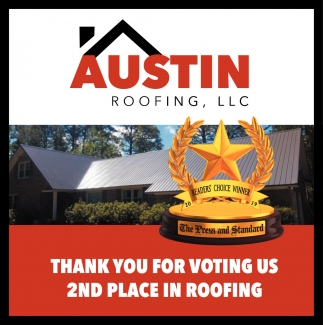 Thank You For Voting Us 2nd Place In Roofing