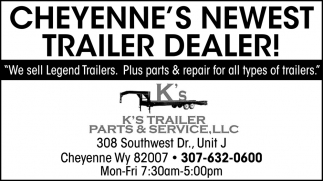 Cheyenne's Newest Trailer Dealer!