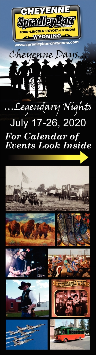 For Calendar of Events Look Inside