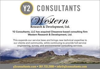 Y2 Consultants, LLC has Acquired Cheyenne-Based Consulting Firm Western Research & Development, Ltd