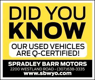 Our Used Vehicles are Q-Certified!