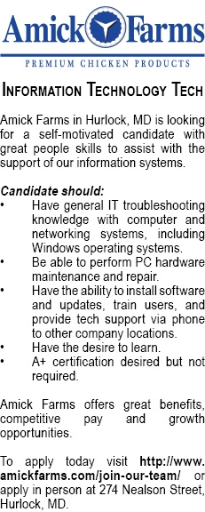 Information Technology Tech Needed