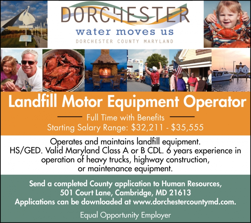 Landfill Motor Equipment Operator