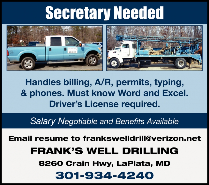 Secretary Needed