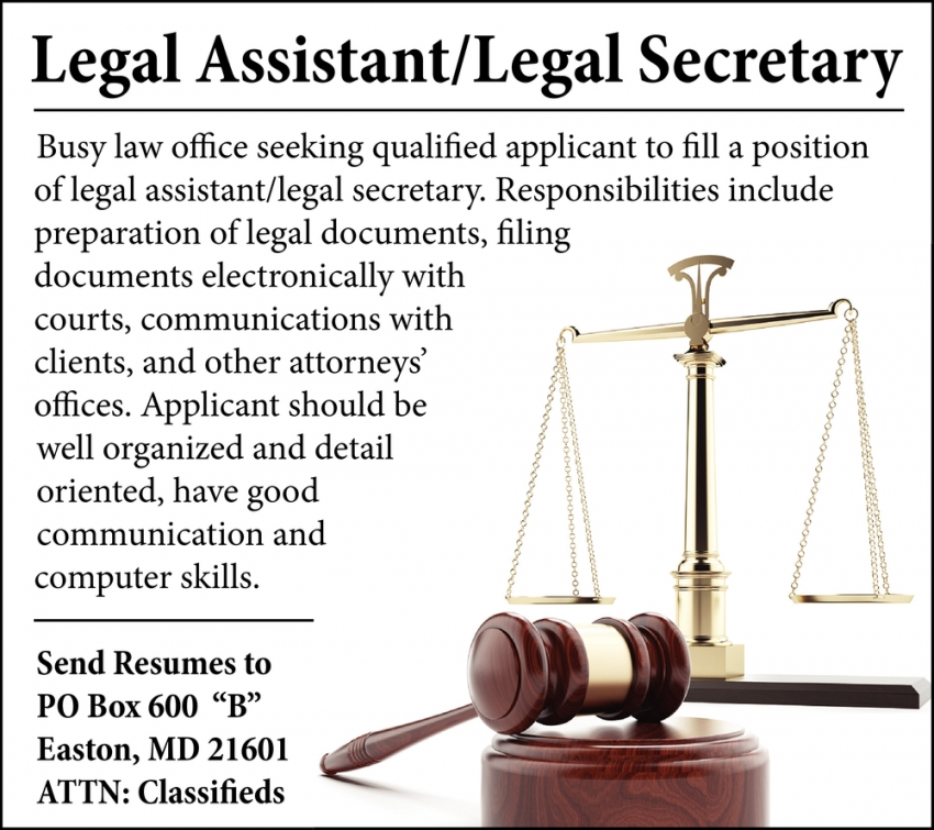 Legal Assistant/Legal Secretary