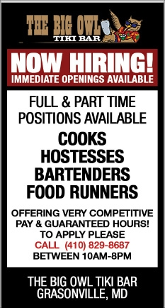 Now Hiring! Immediate Openings Available