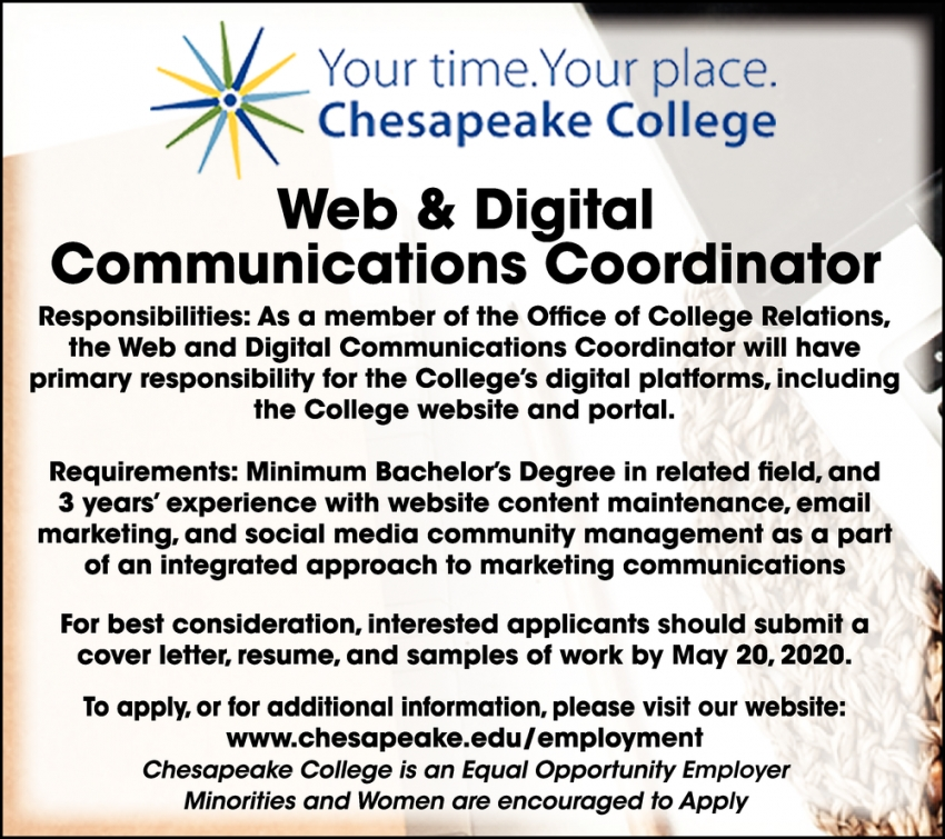 Web & Digital Communications Coordinator