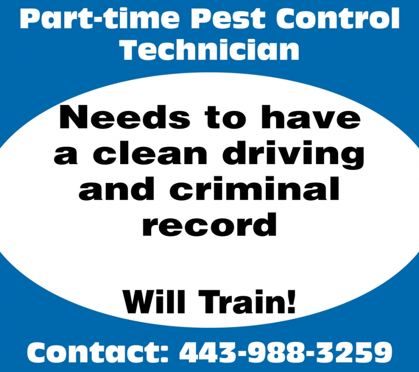 Part-Time Pest Control Technician