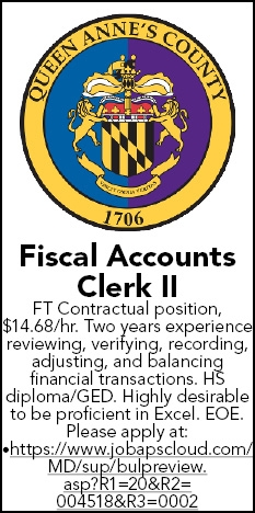 Fiscal Accounts Clerk II Wanted