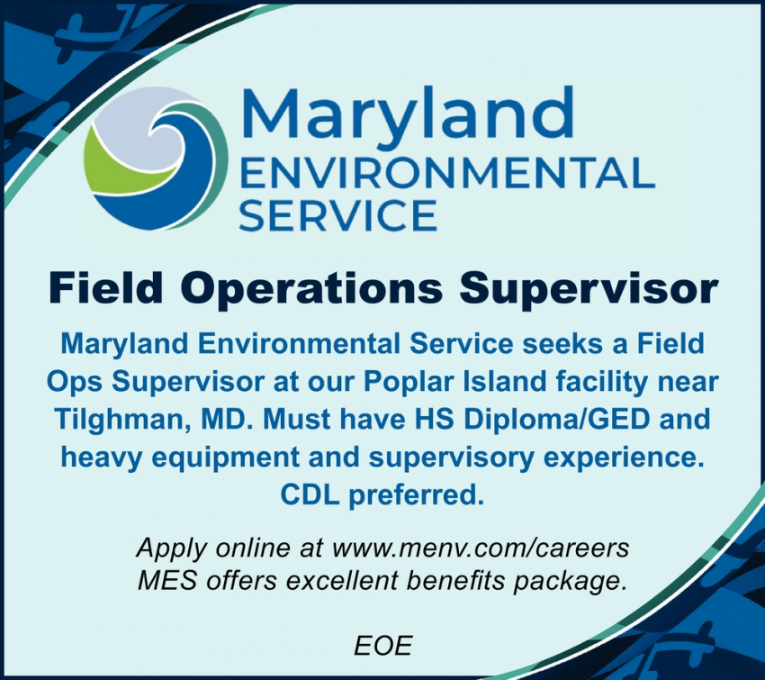 Field Operations Supervisor Wanted