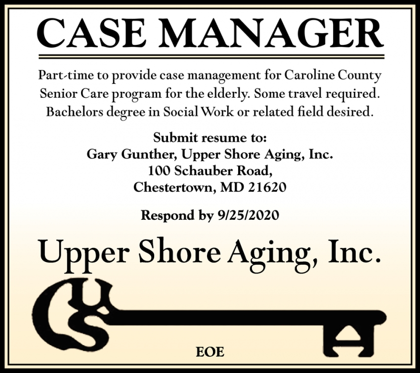 Case Manager Needed