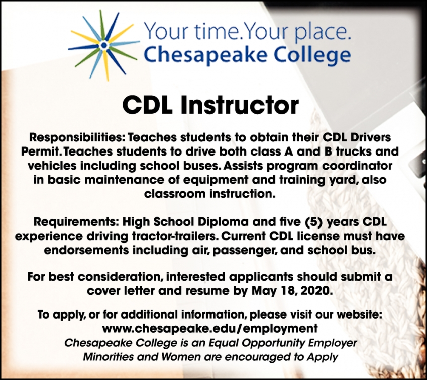 CDL Instructor Wanted
