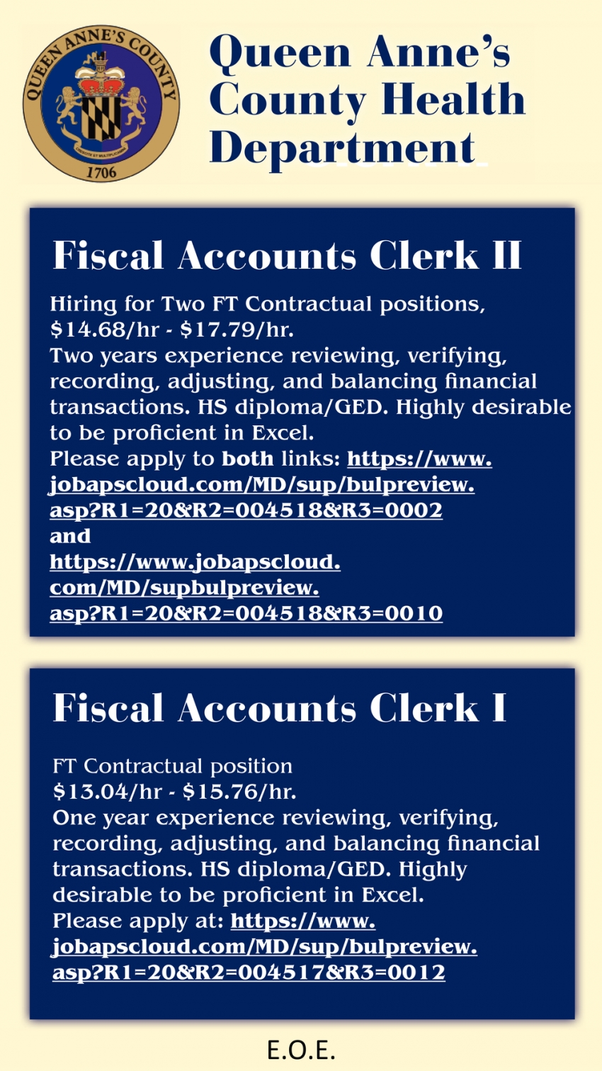 Fiscal Accounts Clerk II