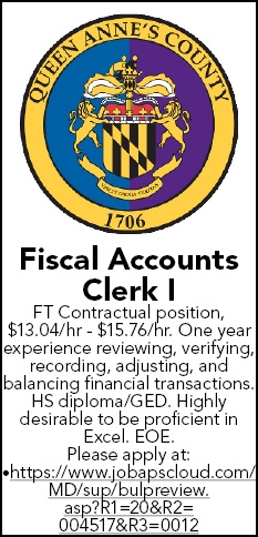Fiscal Accounts Clerk I Wanted