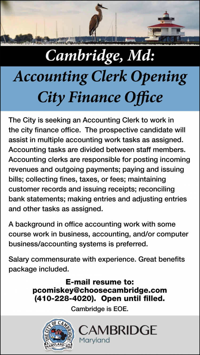 Accounting Clerk Opening