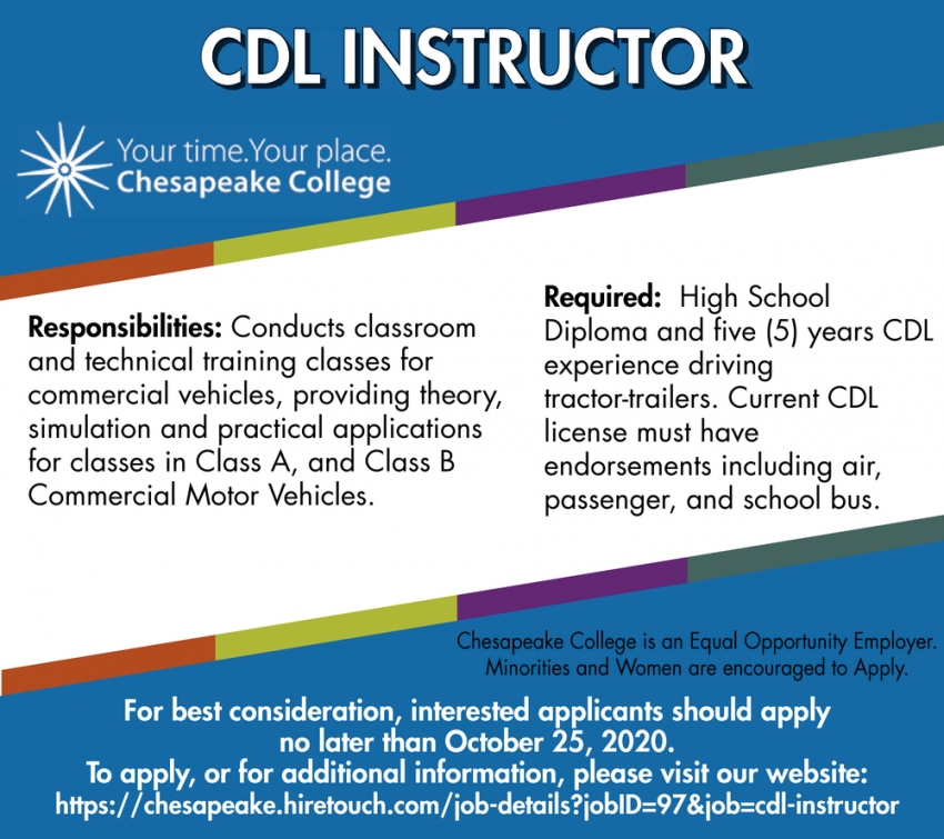 CDL Instructor Needed