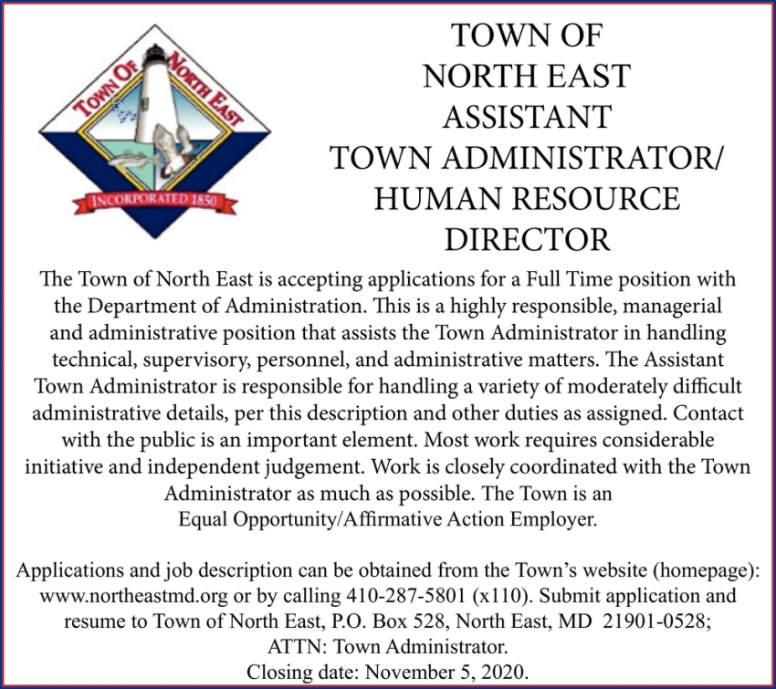 Assistant Town Administrator/Human Resource Director