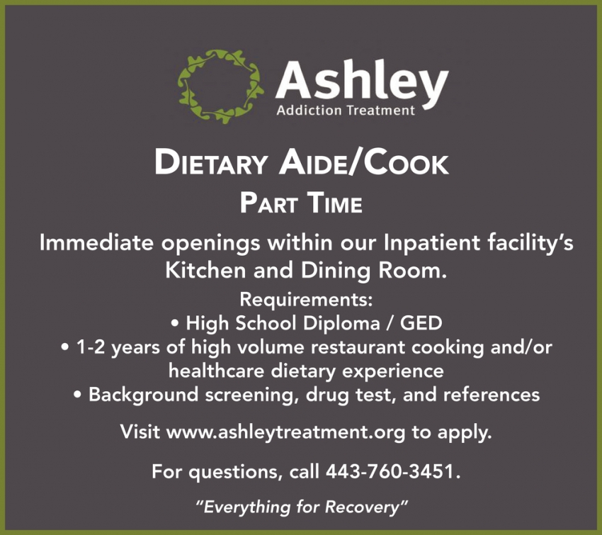 Dietary Aide/Cook Part Time