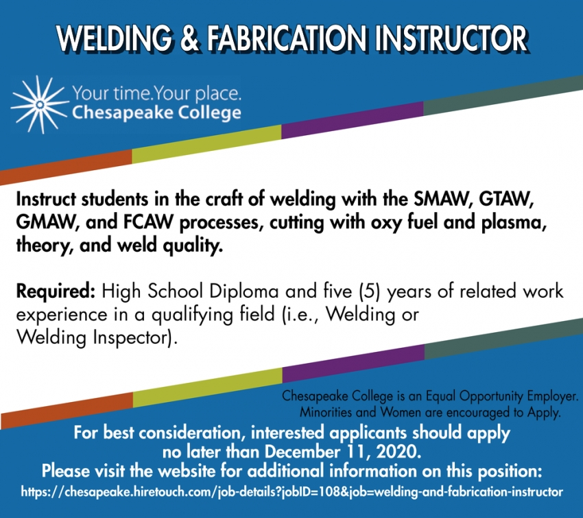 Welding & Fabricator Instructor