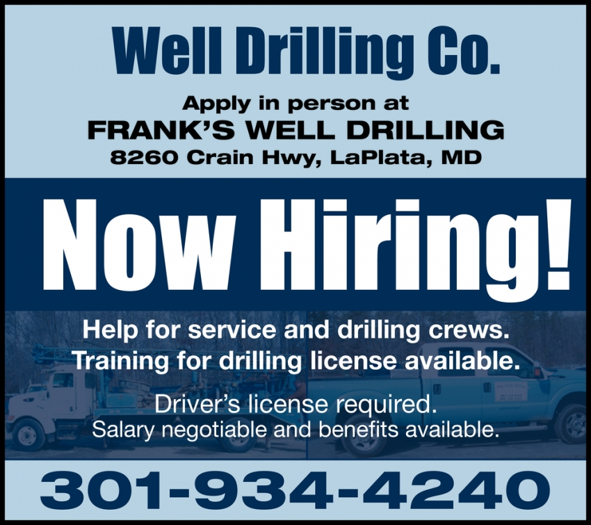 Help For Service And Drilling Crews.