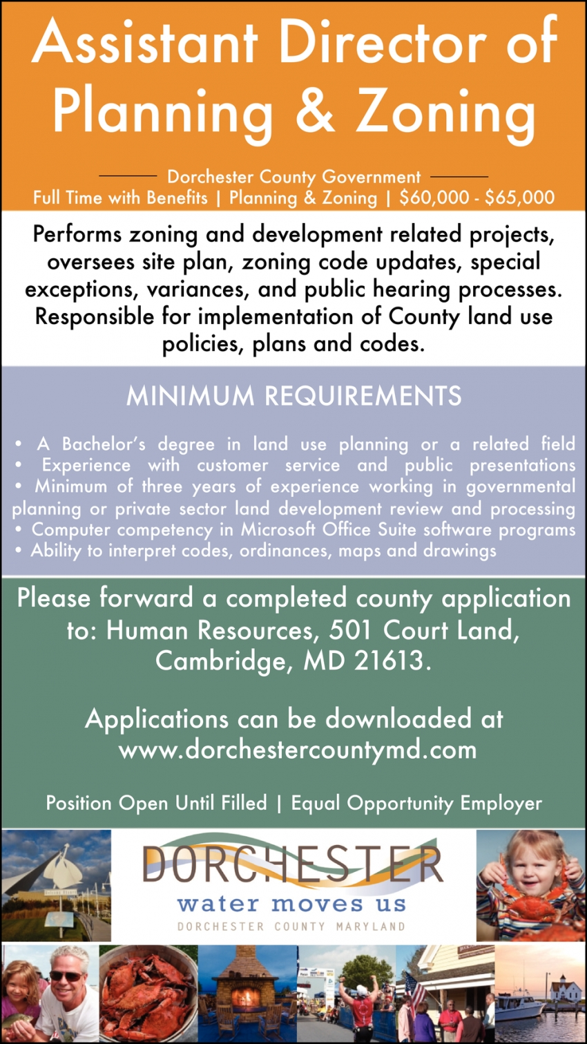 Assistant Director Of Planning & Zoning