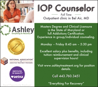 IOP Counselor Full Time