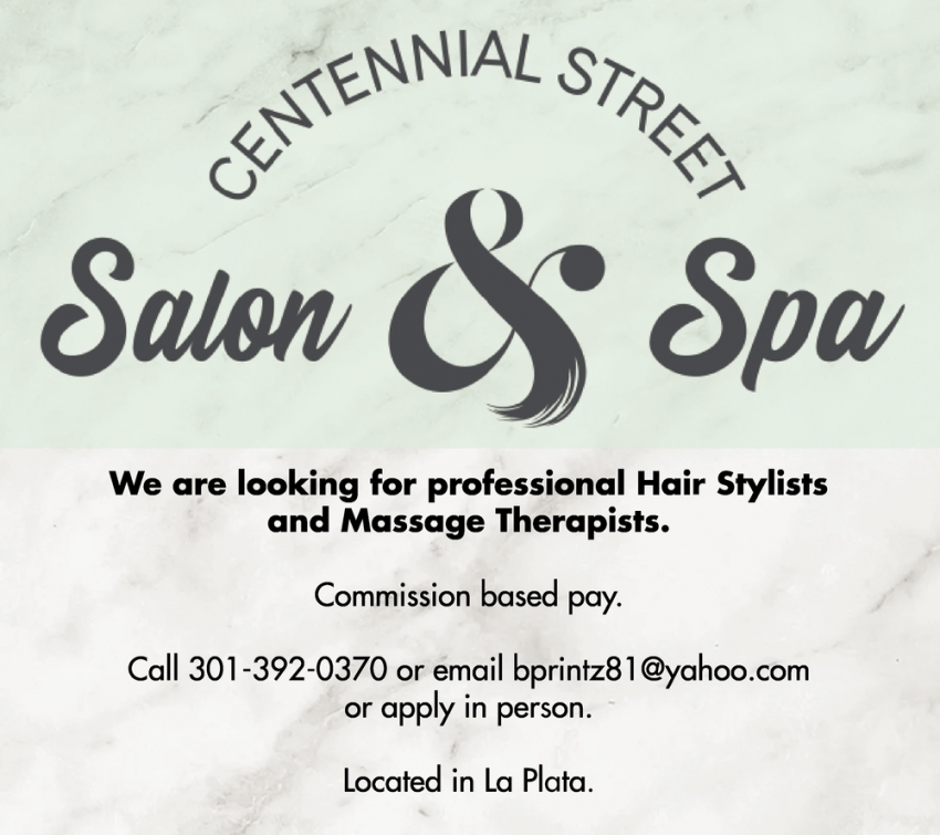 We Are Looking For Professional Hair Stylists And Massage Therapists