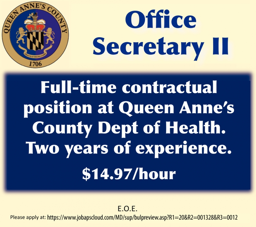 Office Secretary II Needed