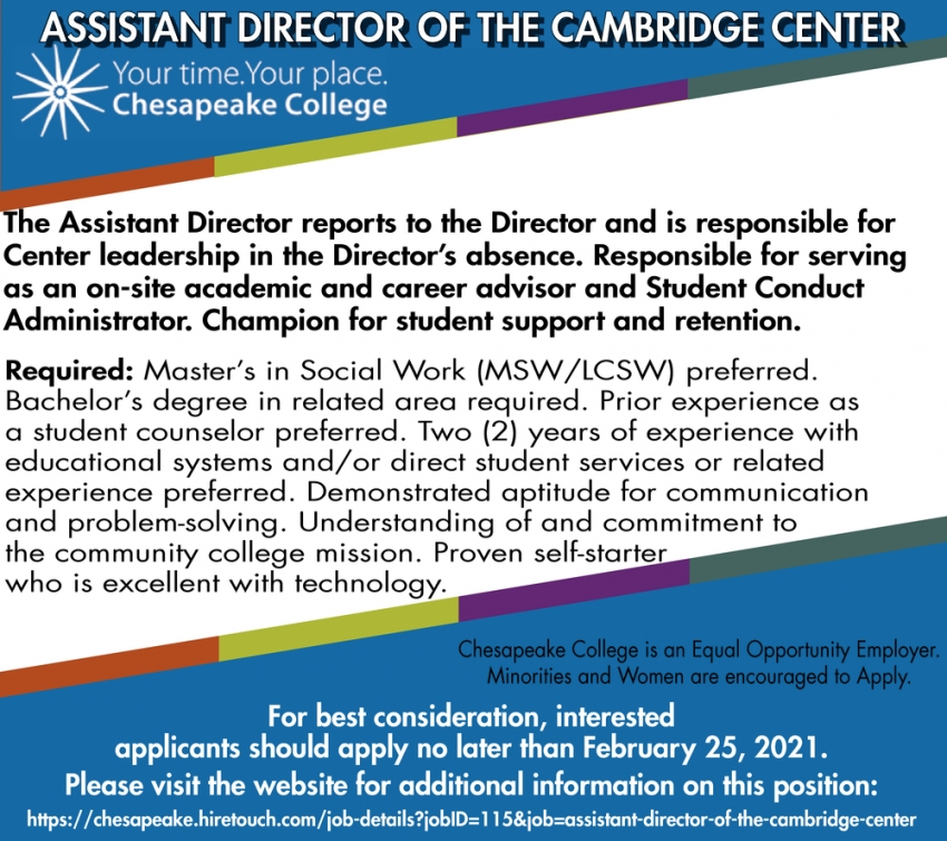 Assistant Director Of The Cambridge Center