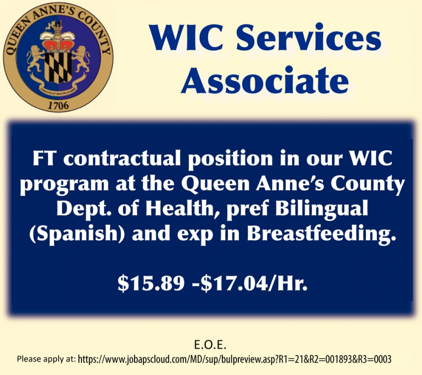 WIC Services Associate