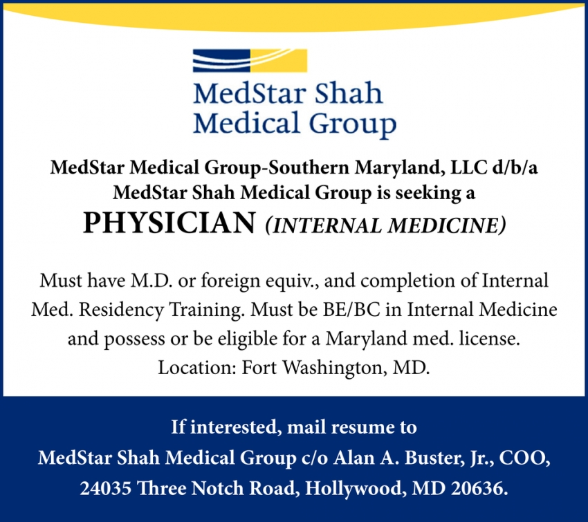 Physicians Needed
