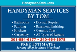 Bathrooms - Drywall Repairs - Painting