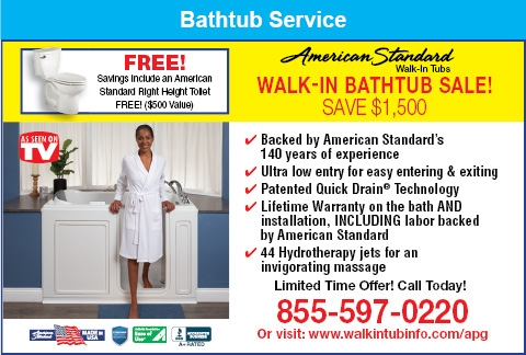 Walk-In Bathtub Sale!
