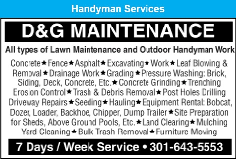 All Types Of Lawn Maintenance And Outdoor Handyman Work