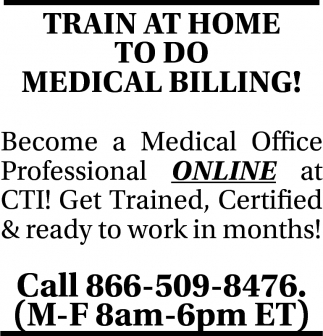 Train at Home to do Medical Billing!