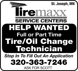 Tire / Oil Change Technician