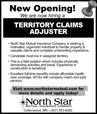Territory Claims Adjuster