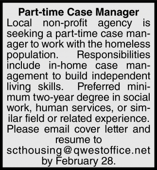 Part-Time Case Manager