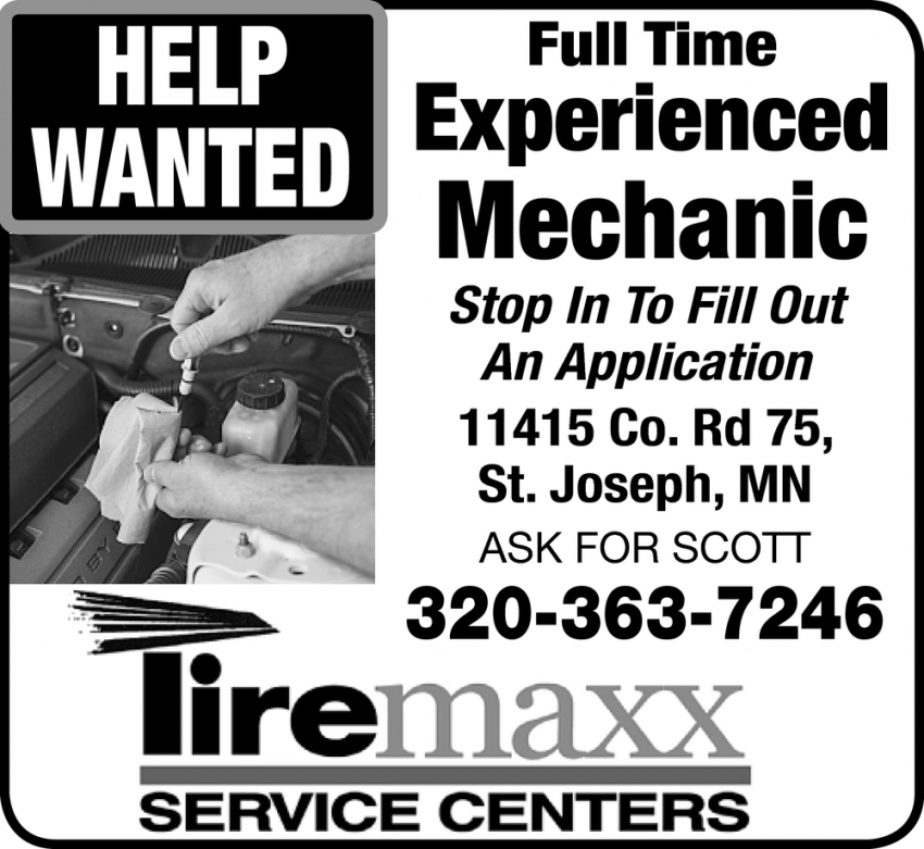 Full Time Experienced Mechanic