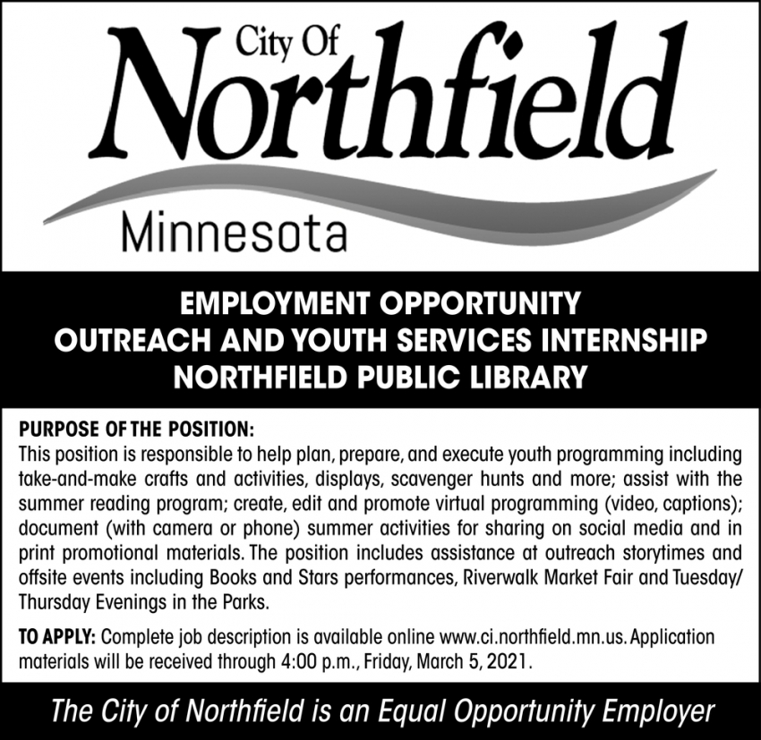 Outreach and Youth Services Internship